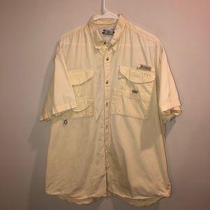 Columbia PFG Light Yellow Button up shirt